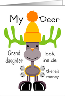 Deer Granddaughter Reindeer card