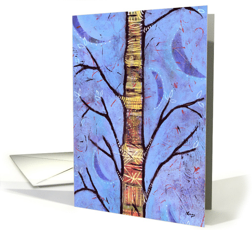 Blue Spirit Tree Enchanted Forest Aspen Tree card (1368736)