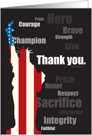 Thank You - Describing Veterans card