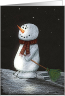 Snowman In Remembrance Christmas Card