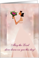 May the Lord... -wedding card