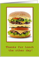Thanks for lunch the other day- Hospitality, Occassion, Lunch, Thank you card