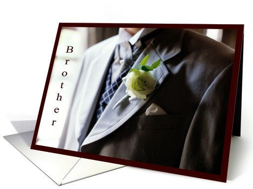 Best man - Brother - Formal Suit card (588660)