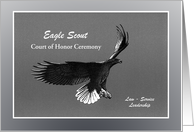 Invitation - Eagle Scout - Court of Honor card