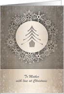 Christmas - Mother - Snowflake Tree Wreath card