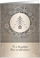 Christmas - Business - Boss - Snowflake Tree Wreath card