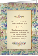 Peacock Feathers - Wedding Guest Invitation card