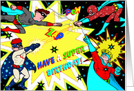 Superhero Show - Birthday card