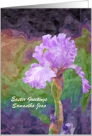 Easter - Friend - Bearded Iris - Oil Painting card