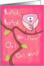 Owl Love You Forever, Valentine, knock knock card