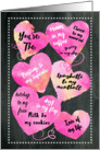 Valentine's Day Blank to My Blank Chalkboard Watercolor card