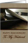 Husband Cowboy Hat Anniversary card