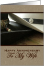 Wife Cowboy Hat Anniversary card