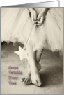 Twinkle Your Toes Ballerina Invitation card