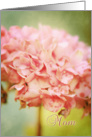 Winter Hydrangea Mother's Day for Mom card