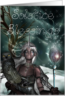 Winter Solstice Blessings card