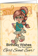 Girl Scout Birthday Card