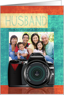 Husband Father's Day Card Your Photograph Here With Camera card