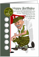 Golfer Birthday Greeting Card With Humor card