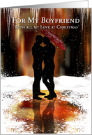 Boyfriend Stylish Christmas Holiday Card With Gay Couple card