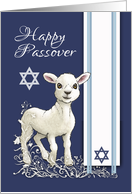 Passover Little Lamb Star And Tallit card
