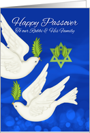 Rabbi & Family Passover Dove And Olive Leaf card