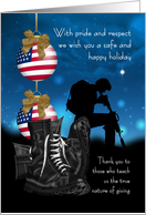 Military Christmas Greeting Card With Pride And Respect card