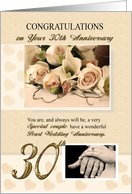 30th Pearl Anniversary card