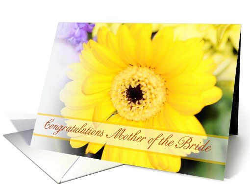 Mother of the bride Congratulations card with lemon flower card