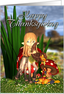 Thanksgiving With Centaur Holding A Cornucopia card