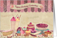 Godmother - Birthday Card - Cakes And sweets card