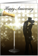 Wedding Anniversary - Champagne card
