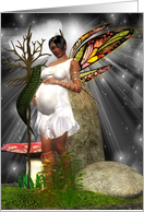 Baby Shower Card - African American Fairy card