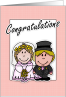 wedding day congratulations with bride and groom card