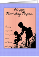 Papaw Birthday, Children Silhouette card