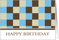 Business Birthday Card With Cool Squares - Customer Birthday Card