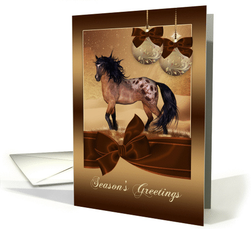 Equine Horse Christmas Holiday card (971755)