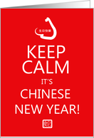 Keep Calm For Chinese New Year card