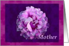 Mother with watercolor rose card