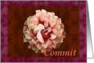Commit with watercolor rose card