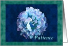 Patience with watercolor rose card