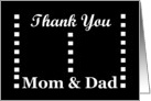 WEDDING Thank You - Mom and Dad card