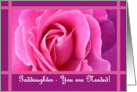 GODDAUGHTER - Be My Bridesmaid with Rose card