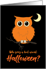 Halloween Owl Who Gives a Hoot Humor card