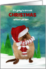 Missing You at Christmas Cute Gerbil Dressed for the Winter card