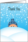 Thank You Snow Business General for Customers card