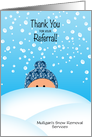 Thank You Custom Name Snow Business General for Customers card