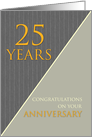25 Years Employee Anniversary Classic Gray Pinstripe Business card