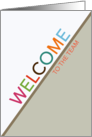 Welcome to the Team Business Multicolor Letters card