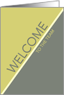 Welcome to the Team Business Avocado Green and Gray Design card